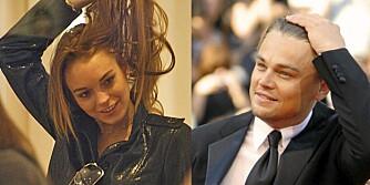 NYSINGEL: Lindsay Lohan viste Leonardo DoCaprio at hun ikke har glemt hvordan man skal forføre en mann.
