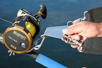 RETT PÅ SNELLA: Denne klipses på, så er du klar til å kjøre fisk.