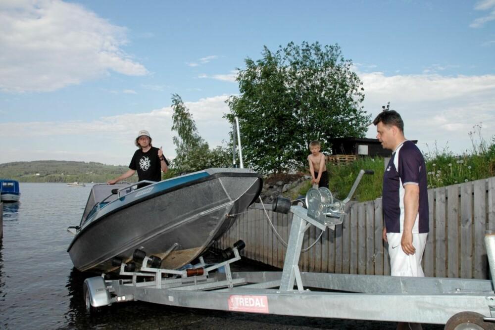 GJØVIK: Den kommunale båtutsettingsrampa i Gjøvik er et greit utgangspunkt for fiske i Mjøsa med egen båt.