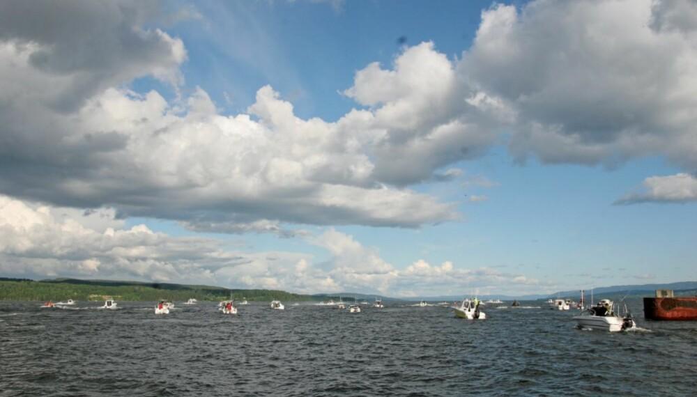 REKORDMANGE: Over 220 båter deltok i NM i år.
