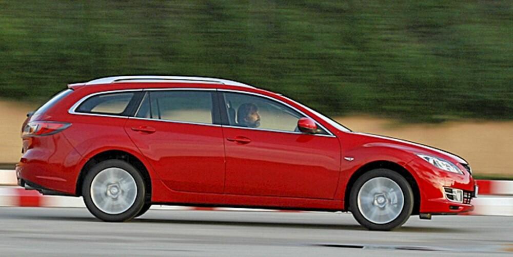 VÅR FAVORITT: Mazda 6 ble nærmest enstemmig kåret som vår favoritt i mellomklassen.