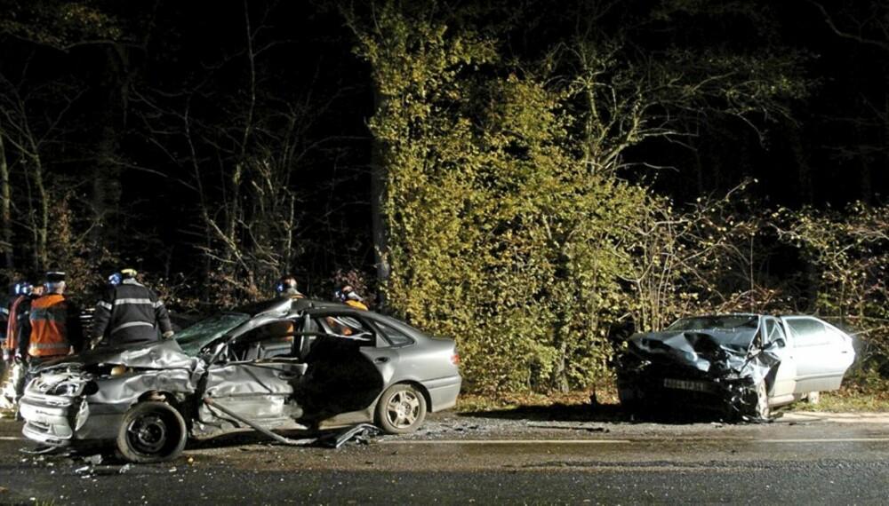 SIKKER BIL: Når det først skjer en ulykke kan en ny og sikker bil redde livet ditt.