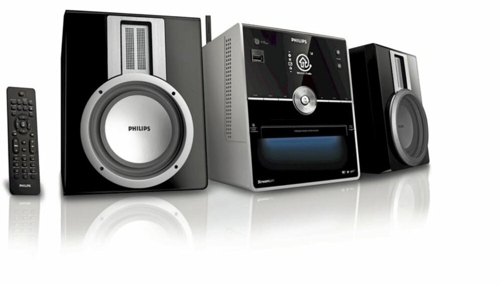 MIKRO: Philips har utviklet et mikroanlegg med CD-spiller og nettradio. . Det synes vi er en svært spennende løsning, som gir mye for pengene.