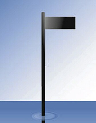 STAKE: Dette er et velkjent merke til sjøs, og dette viser at man skal holde til styrbord (høyre) for merket.