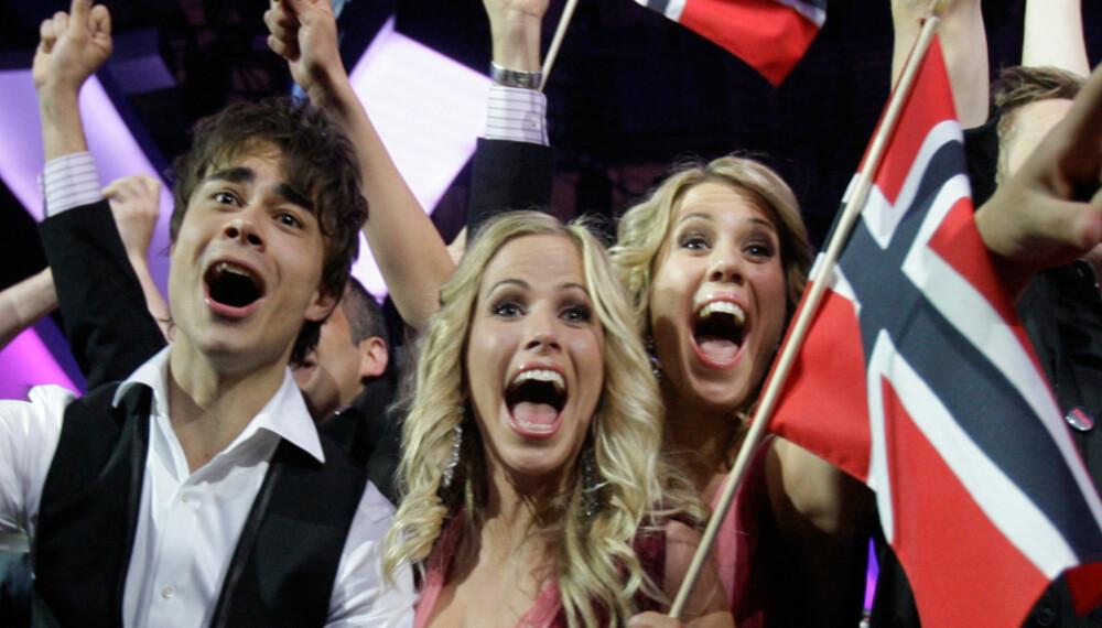 Alexander Rybak, kordamene, Frikar og resten av den norske troppen kunne slippe jubelen løs til slutt.