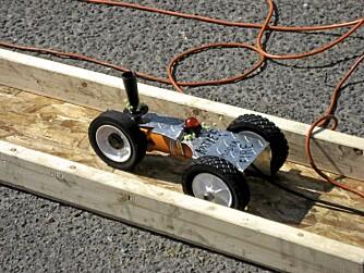 FORHJULSDRIFT: En enkel vinkelslipervariant med direkte drift på forhjulet