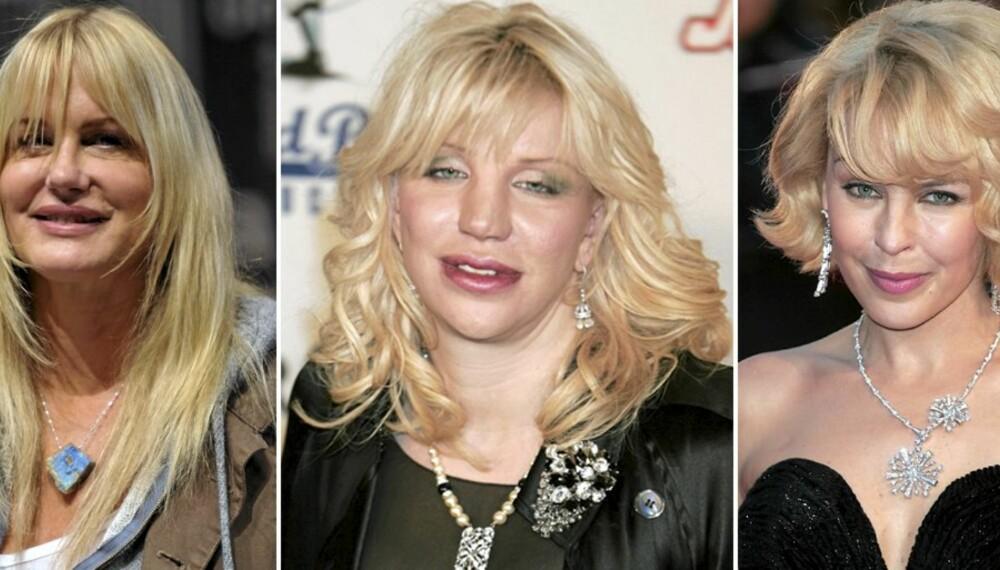 PUTETRYNER: Daryl Hannah, Courtney Love og Kylie Minogue