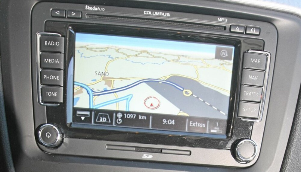 DYRE KART: Integrert navigatør er kjekt å ha mange ganger, men prisen på oppdatering av kart er skyhøy.