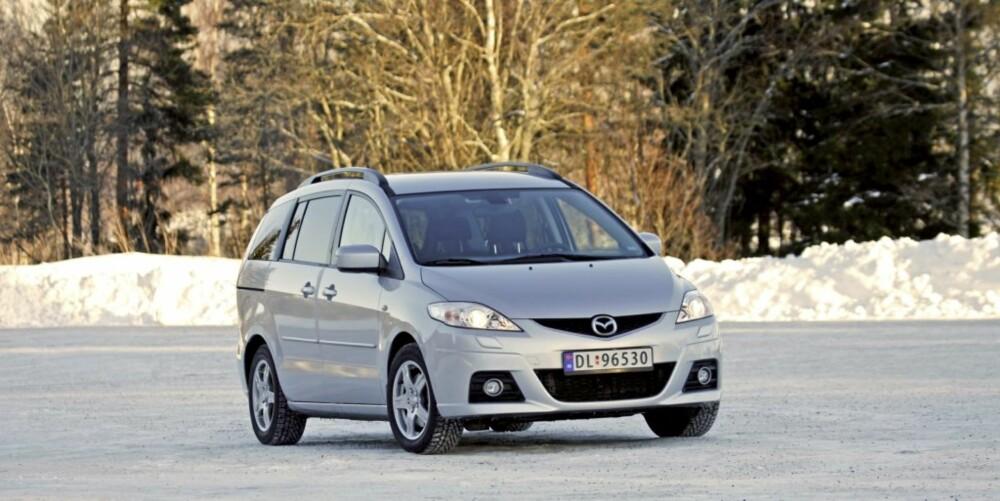 RIMELIG: Mazda 5 er rimeligere enn mange av konkurrentene.