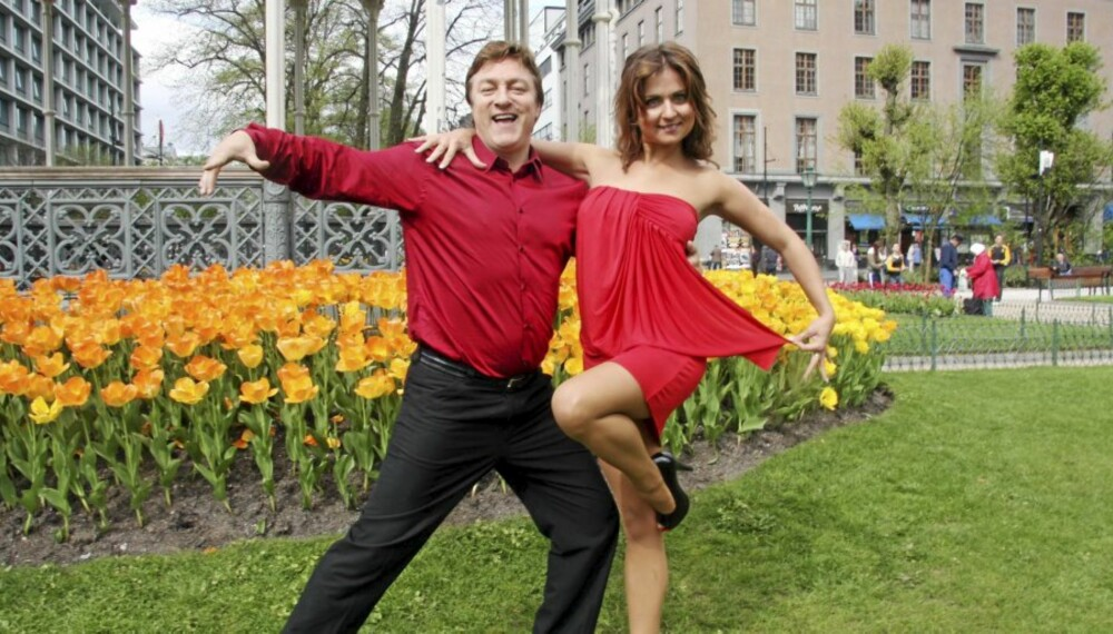 DANSEFRELST: - Dansingen gir et skikkelig endorfin-kick og er super trening, fastslår Tor Endresen, som her svinger seg med sin proffe danselærer Nadya Khamitskaya (26), opprinnelig fra Hviterussland.
