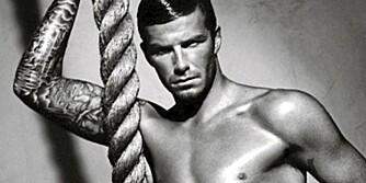 HOT: Det damper av disse bildene av David Beckham for Emporio Armani.