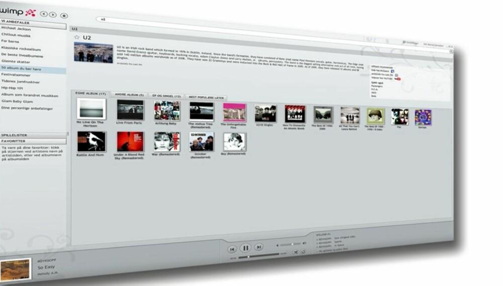 MER MUSIKK: Wimp er en ny musikktjeneste som skal konkurrere med Spotify og iTunes.