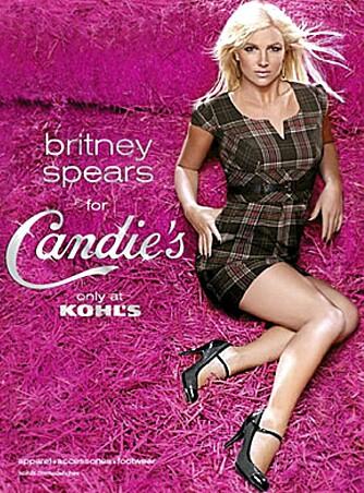 I HØYET: Britney Spears i sexy reklame for kleskjeden Candie's