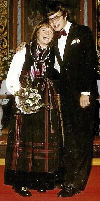 380726aa DEN STORE DAGEN: Dea og Jarle giftet seg i Svene kirke 1. september 1979