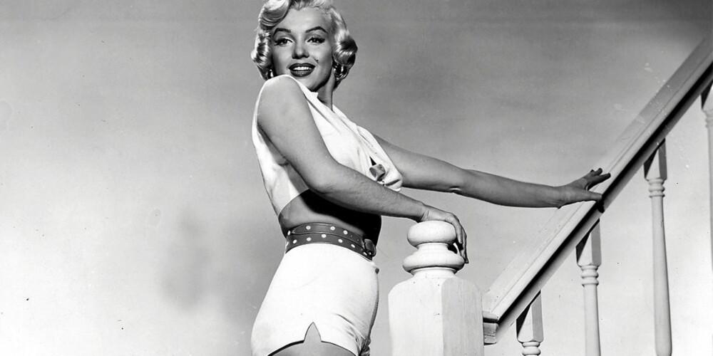 TIDLIG UTE: Med Marilyn Monroe fikk bikinien sitt gjennombrudd.