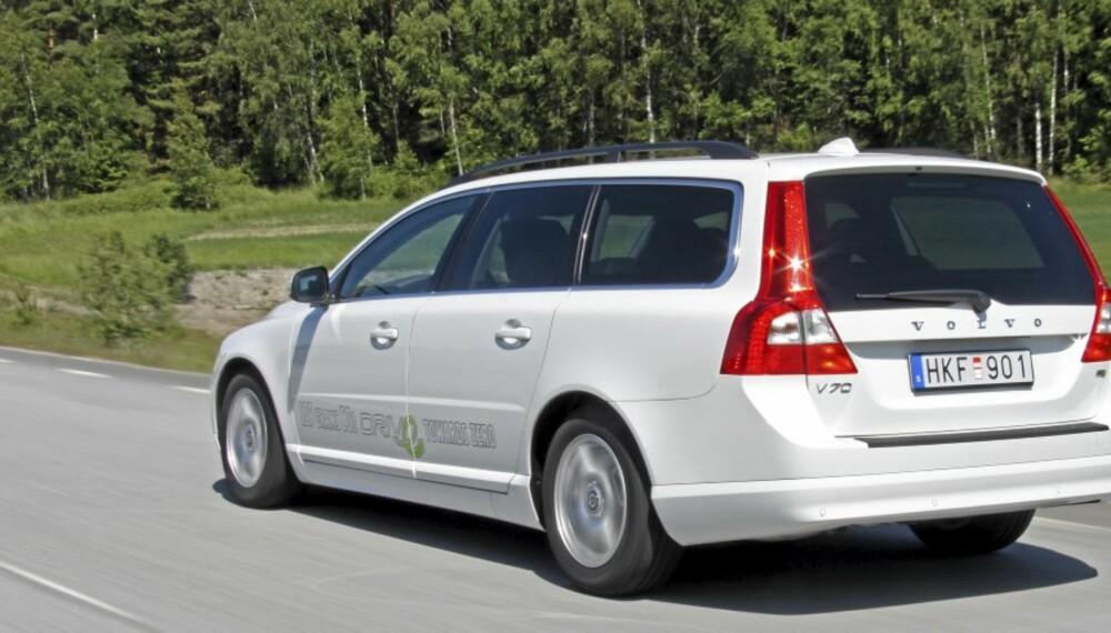 POPULÆR: Mange har valgt Volvo V70 med den lille 1,6-liters dieselmotoren.
