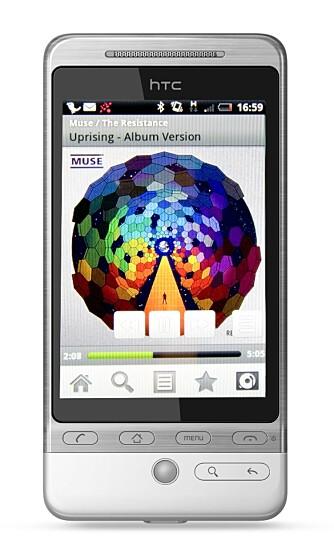 ENKELT: Det er relativt enkelt å bruke Wimp på mobilen. Covervisningen er viser hvilket album som spiller.