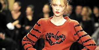 STRIKK: Motehuset Sonia Rykiel er kjent for sine anvendelige og moderne strikkeplagg.