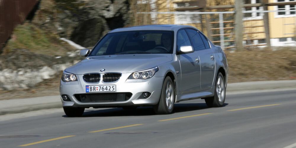 LUKSUS: Flesteparten av leserne ville valgt en BMW 5-serie foran Ford Mondeo og Saab 9-5.