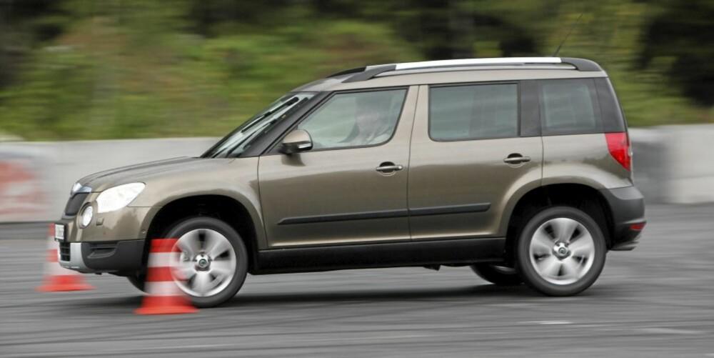 VALGMULIGHETER: Du kan bli Yeti eier fra under 240 000 kroner med en forhjulsdreven 1,2 TSI med 105 hk. Rimeligste versjon med firehjulsdrift en 110 hk diesel til 299 900 kroner.