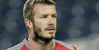 TRENDY: David Beckham viser vei for den nyeste trenden blant menn: skjegg.