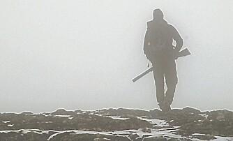 TÅKE: Tåka kommer fort i fjellet. Kjente områder forandrer seg til det ugjenkjennelige.