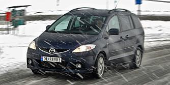 HVERDAGSBILEN: Mazda 5 med skyvedører er en drøm når parkeringsplassene er trange.