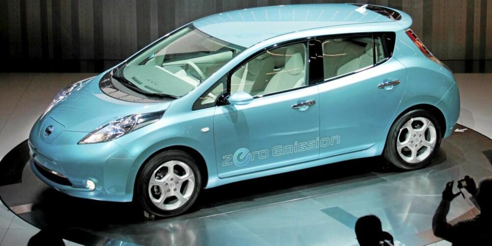 Nissan Leaf ble vist frem i Yokohama i Japan i går for verdenspressen.