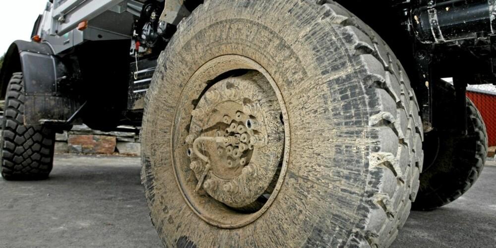 FIRE BALLONGER: Hjulene på Mogen var noen av de største vi har sett. Enda større hjul er på ekstrautstyrslisten.