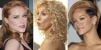 TRENDY: Evan Rachel Wood, Sarah Jessica Parker og Rihanna følger alle vinterens hårtrender