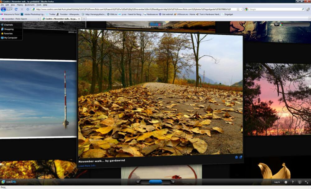 PLUGIN: Cooliris er et tøft tillegg til nettleseren, og gir tøffe lysbildeshow for Flickr-bilder, YouTube-videoer og mye mer.