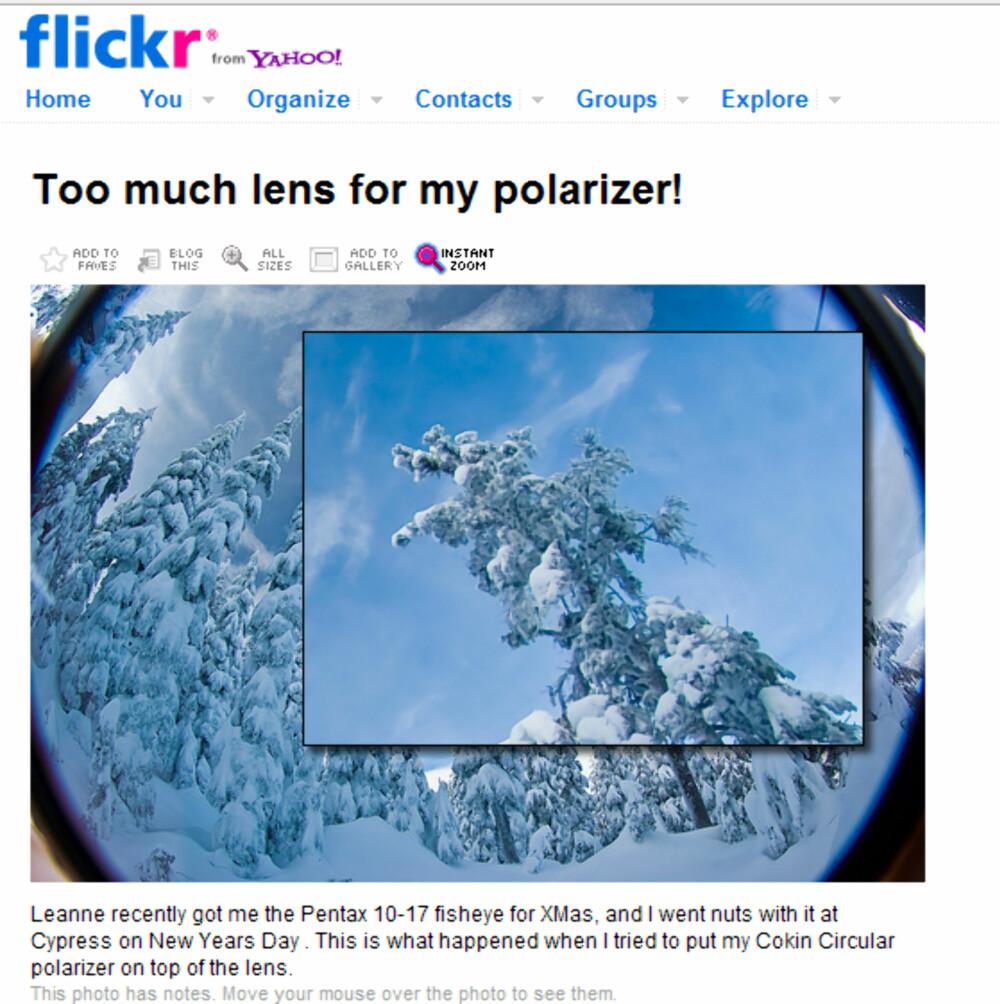 FORSTØRRELSESGLASS: Photo Magnifier gir deg mulighet til å zoome inn på deler av et Flickr-bilde når du bruker FireFox. Photo Magnifier er del av Better Flickr-tillegget.