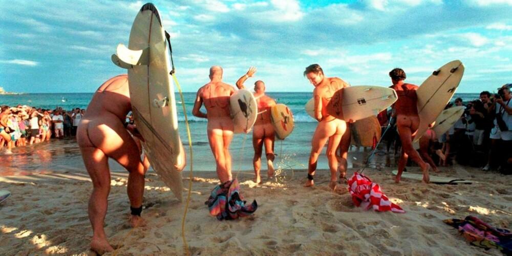 BRETTER SEG: Hvis nakensurfing er din greie, bør du booke billetter til Australia.