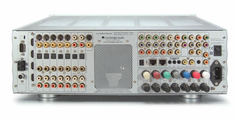 ANALOGT OG DIGITALT: Mange receivere kan ta imot flerkanals lyd både analogt og digitalt.
