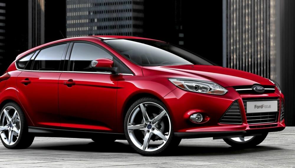 FETT I 2010: Her er nye Ford Focus, bilen som kan få Golf og Astra til å blekne.