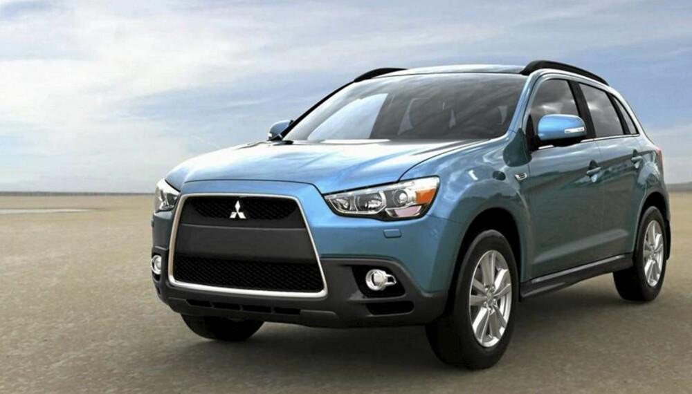 UNDERBITT? Mitsubishis nye grill skal virke aggressiv. Imaget derimot skal fremme miljøet og en renere atmosfære. Derav fargen?