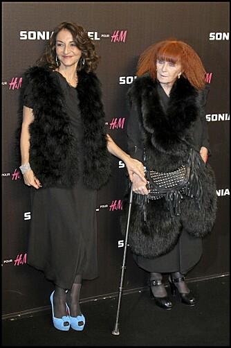MOR OG DATTER: Nathalie Rykiel og Sonia Rykiel på lanseringen av H&M-kolleksjonen i desember.