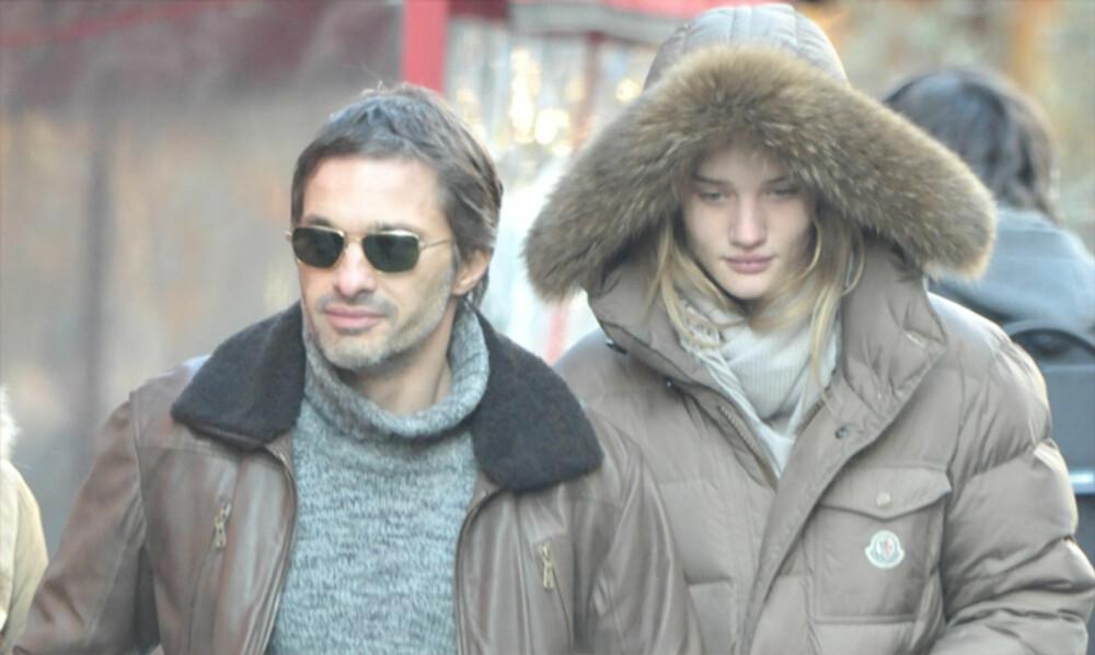 Olivier Martinez og Rosie Huntington-Whiteley hutret sammen i kjærlighetsbyen Paris.