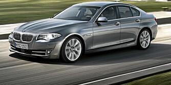 PÅ VEI: BMWs nye 5-serie kommer til Norge i mars, og forventningene er høye.