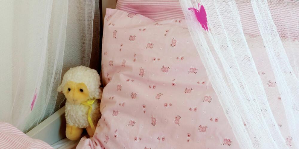 SENGEKROK: Prinsessenettet rundt sengen er fra Damplass Stua, mens sengesettet er fra Drømmeslottet på GlasMagasinet.