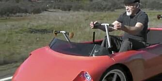 Professor Samuel Greenwood er arkitekten bak ro-bilen.