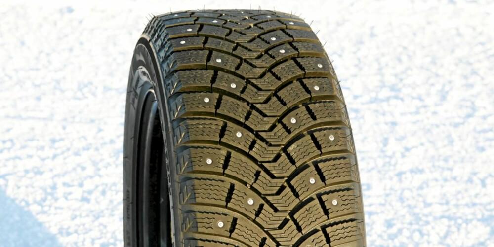 FRANSK VINTERFRYD: Michelin X-Ice North vinner Motors dekktest sammen med Nokians piggdekk.
