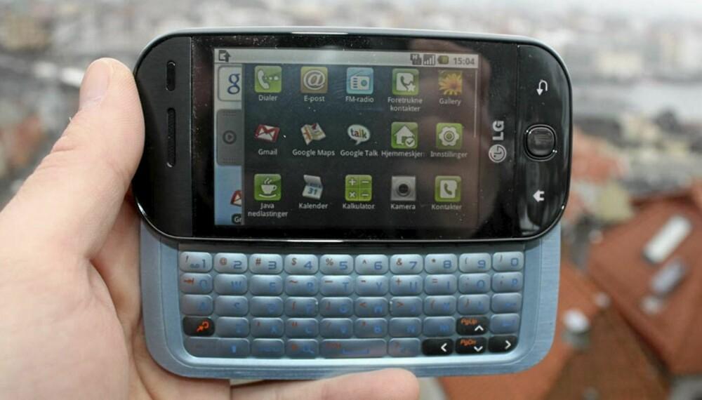 MED TASTER: LG GW620 kommer både med tastatur og touchskjerm.