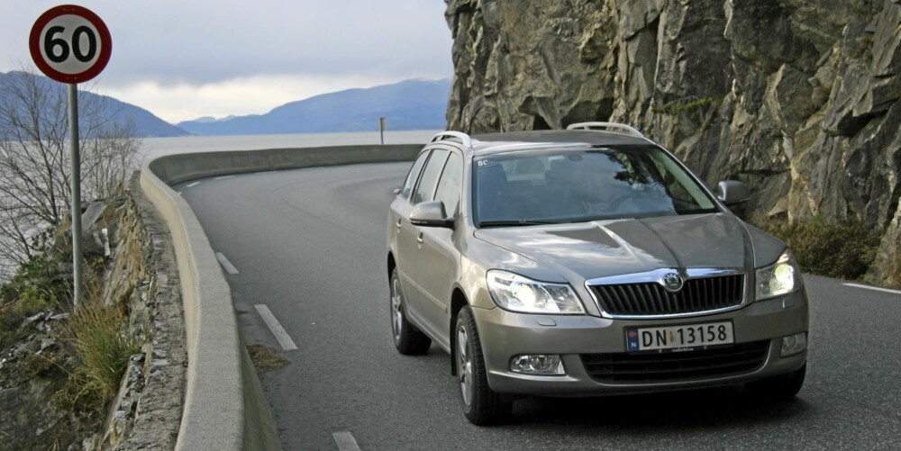 POPULÆR BIL: Octavia med firehjulsdrfit er en populær bil, og ekspertene i LeasePlan tror det vil holde seg slik i årene som kommer.