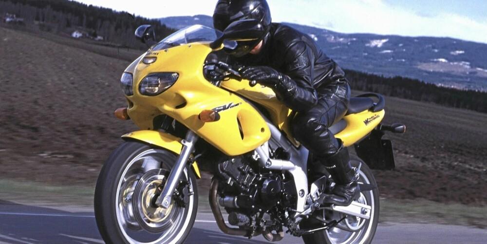 SPORTSTWIN: På slutten av 1990-tallet, lanserte Suzuki sin SV 650-modell. En lett og leken sykkel med sporty egenskaper. Begrenset komfort men mye kjøreglede for pengene.