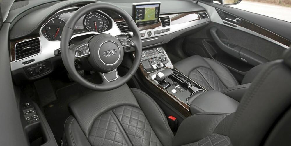 PERFEKT: Ingen bygger interiør med bedre kvalitetsfølelse enn Audi.