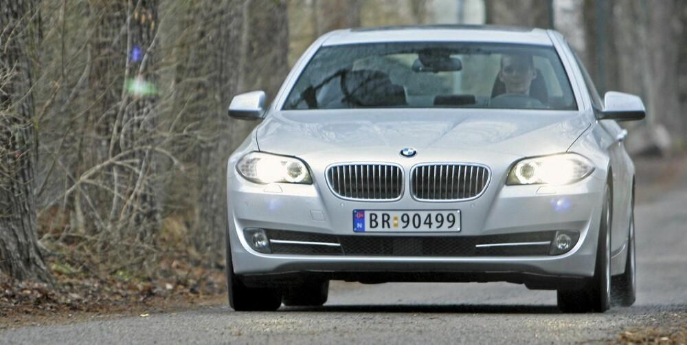 NYTELSE: BMW 530dA er rendyrket nytelse på hjul.