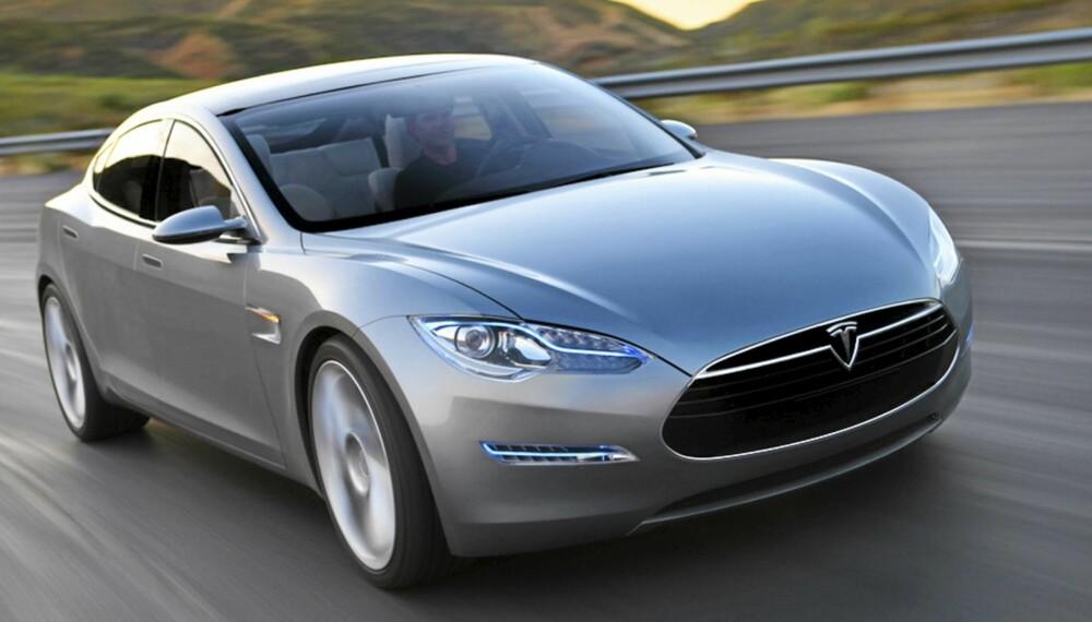 VAKKER: Tesla Model S er en rålekker elbil.