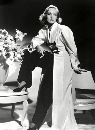 I BUKSER: Marlene Dietrich i filmen _Angel_ fra 1937.