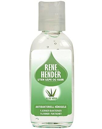 RENE HENDER: Antibakteriell Håndgelé med aloe vera (kr 27).